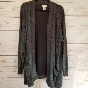 🎈Final Sale🎈 Shimmery Charcoal Cardigan